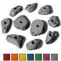 10 M/L Klettergriffe im Set verschieden geformte Leisten mit felsähnlicher Struktur in vielen Farben 001