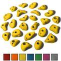 ALPIDEX 25 S/M Klettergriffe im Set verschiedene Formen, schmale Leisten, kleine Henkel, Tritte in vielen Farben 001