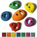 ALPIDEX 6 L/XL Klettergriffe im Set verschieden geformte 2- und 3-Fingerlöcher Loch-Klettergriffe in vielen Farben 001
