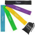 ALPIDEX Fitnessbänder PROFESSIONAL 5er Set Loopbänder in verschiedenen Stärken und Farben inkl. Aufbewahrungstasche 001
