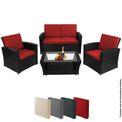 BB Sport 12-teilige Polyrattan Sitzgruppe für 4 Personen inkl. Sitzpolster und Bezüge 001