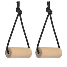 ALPIDEX 2 piece pull up handles wooden training holds