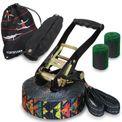 ALPIDEX Slackline Set Shabby Look 15 m + Baumschutz und Ratschenschutz , geeignet für Kinder, Anfänger und Fortgeschrittene 001