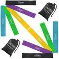 ALPIDEX Sparpaket 10 Fitnessbänder in 5 verschiedenen Stärken und Farben 001