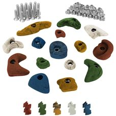 ALPIDEX 15 Children climbing holds - 30 T-Nuts inclusive