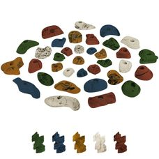 35 Climbing Holds in a Starter Set
