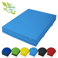 Soft floor mat 200 x 150 x 30 cm incl. hand grips and anti-slip base by ALPIDEX