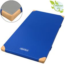 Gym Mat 200 x 125 x 8 cm with Anti-Slip Base, Leather Corners and Carry Handles RG 120 (hard) by ALPIDEX