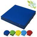 ALPIDEX Mini-Weichbodenmatte 100 x 100 x 20 cm mit Tragegriffen und Anti-Rutschboden  001