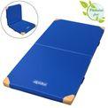 ALPIDEX Klappbare Turnmatte 200 x 100 x 8 cm mit Anti-Rutschboden, Lederecken und Tragegriffen RG 80  001