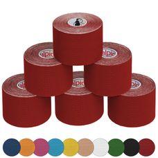 6 Rollen Kinesiologie Tape 5 m x 5,0 cm in vielen Farben