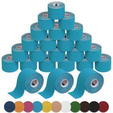 24 Rollen Kinesiologie Tape 5 m x 5,0 cm in 11 Farben