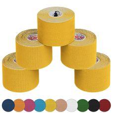 ALPIDEX 5 Rollen Kinesiologie Tape 5 m x 5 cm in verschiedenen Farben