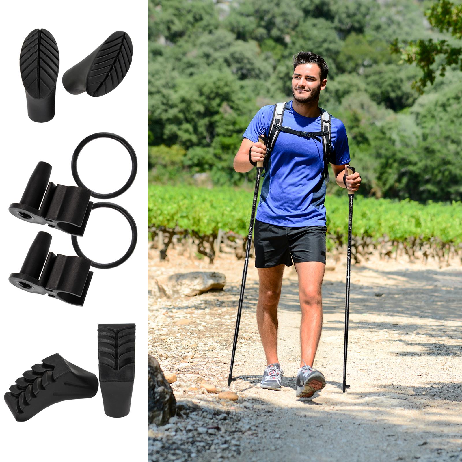 ALPIDEX Superleichter Carbon Nordic Walking Stock Stöcke für Damen und Herren