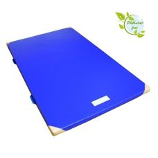 Gymnastic Mat 150 x 100 x 6 cm with Anti-Slip Base, Leather Corners and Carry Handles RG 120 by Alpidex