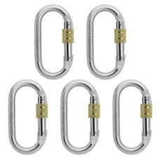 5 x ALPIDEX Karabiner Oval Stahl