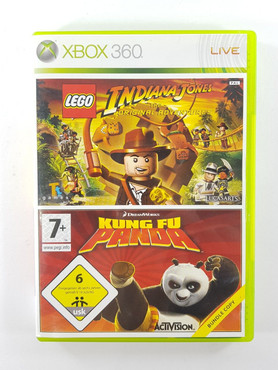 Indiana Jones + Kung Fu Panda Microsoft Xbox 360 Spiel USK 6 – Bild 1