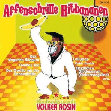 KINDERDISCO MIT VOLKER ROSIN - AFFENSCHRILLE HITBANANEN CD NEU