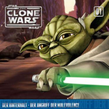 STAR WARS CLONE WARS 1 HINTERHALT / ANGRIFF DER MALEVOLENCE CD NEU OVP