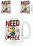 MINIONS - NEED COFFEE TASSE NEU