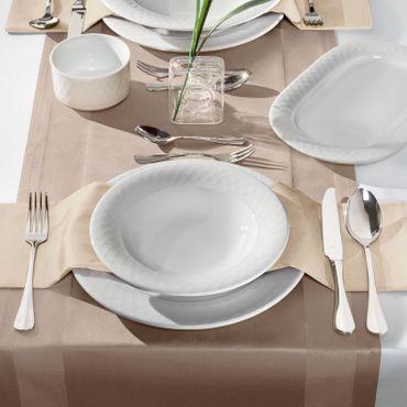 Voldo 6-tlg. Kuchen Gabeln CANNES - Ergänzung zum Besteck Set - 18/10  Edelstahl poliert, besonders massiv, Sondermaterialstärke - 100-258