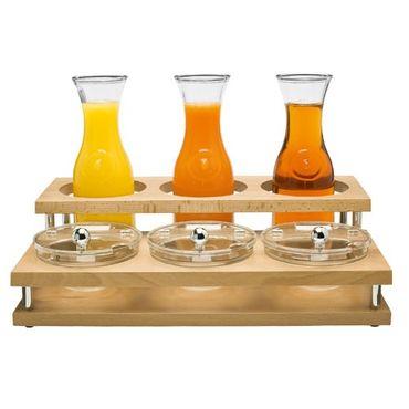 Voldo Buffet-Bar Präsentation Behälter / Ständer TONI - 2-stufig - für Marmelade Dips Soßen aus Buchenholz, 48 x 34 x 14 cm (LxBxH) Tisch Deko Buffet Gastro Hotel  - 100-653