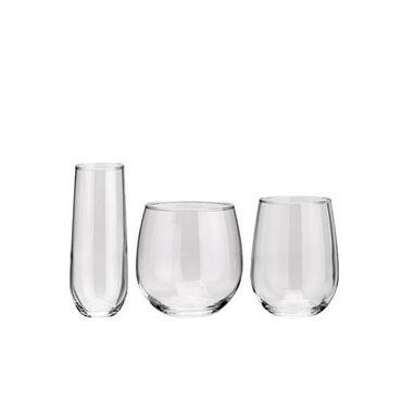 Voldo 12-er Glas Set Serie FARO wählbar Weißwein Rotwein Sekt -  Buffet Party Bar Bedarf Gastro 100-869