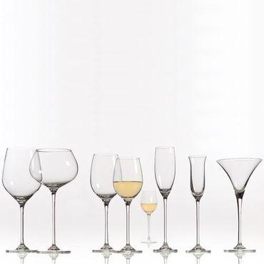 Voldo 6-er Glas Set Serie OLIVIA  wählbar Weißwein Rose Rotwein Martini Digestif Champagner -  Buffet Party Bar Bedarf Gastro - 100-882