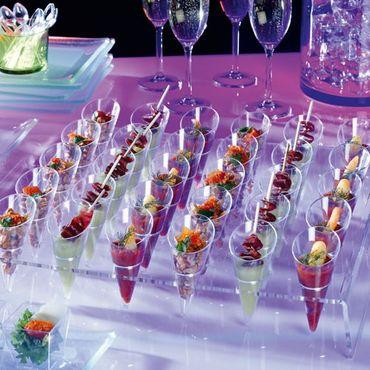 Voldo Buffet Servier Platte Tablett IVAN Kunststoff- Appetizer Fingerfood Digestif - Buffet Party Grillen Bar Snacks Gastro 101-062