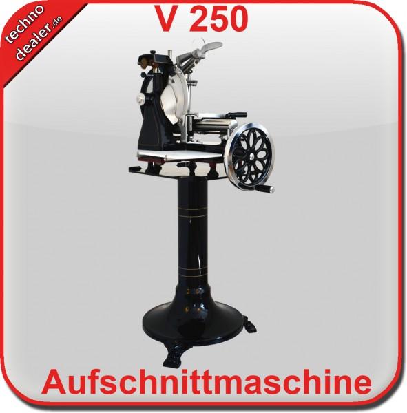 Volano 250 mit Blumenrad SCHWARZ - Aufschnittmaschine Schwungradmaschine – Bild 2