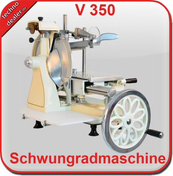 Aufschnittmaschine Schwungradmaschine OS 350 Cremeweiß - Old Style Slicer