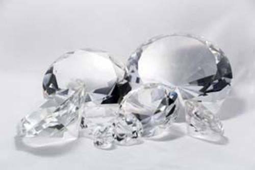15 cm Glaskristall-Diamant