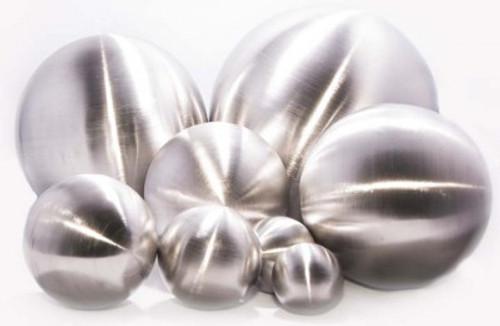 15 cm Edelstahl-Dekokugel | gebürstet | rostfrei | ohne Bohrung