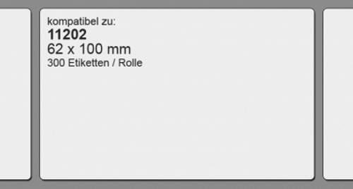 11202 | 62 x 100 mm | kompatibel | 300 Etiketten | weiß | permanent klebend | inkl. Rahmen
