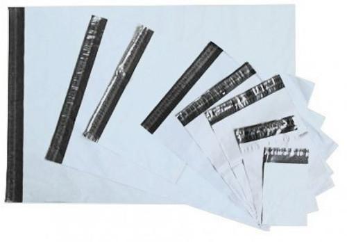 100 Versandbeutel | 550 x 750 mm | 60 µm | selbstklebend | 4 cm Lasche | hellgrau