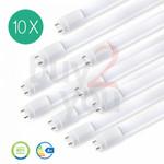 LED Röhre T8 G13 10 Stück 150 cm 6400 Kelvin kaltweisses Licht 22 Watt [Energieklasse A+] 001
