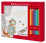 Faber-Castell 201433 - Ausmalset Happy Zen mit 8 Colour GRIP Buntstiften 1