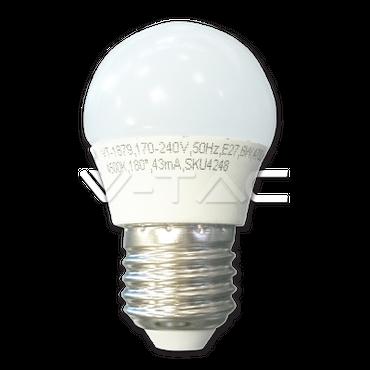 E27 LED Bulb Glühlampe 6W Abstrahlwinkel 180 Grad, Nicht dimmbar, Warmweiß   [Energieklasse A+]