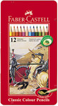 Faber-Castell 115844 - Buntstifte Classic Colour, 12er Metalletui  001
