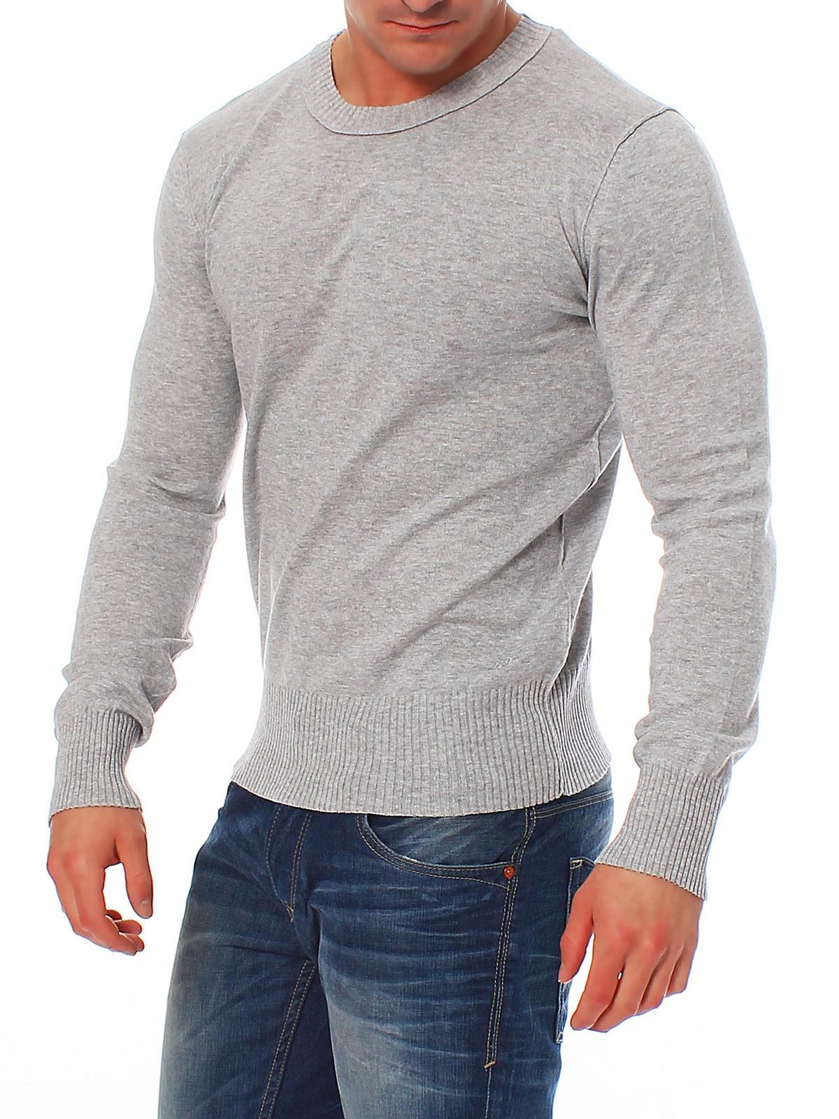 tom tailor herren pullover crew neck sweater 30111040912 grau herren pullover. Black Bedroom Furniture Sets. Home Design Ideas