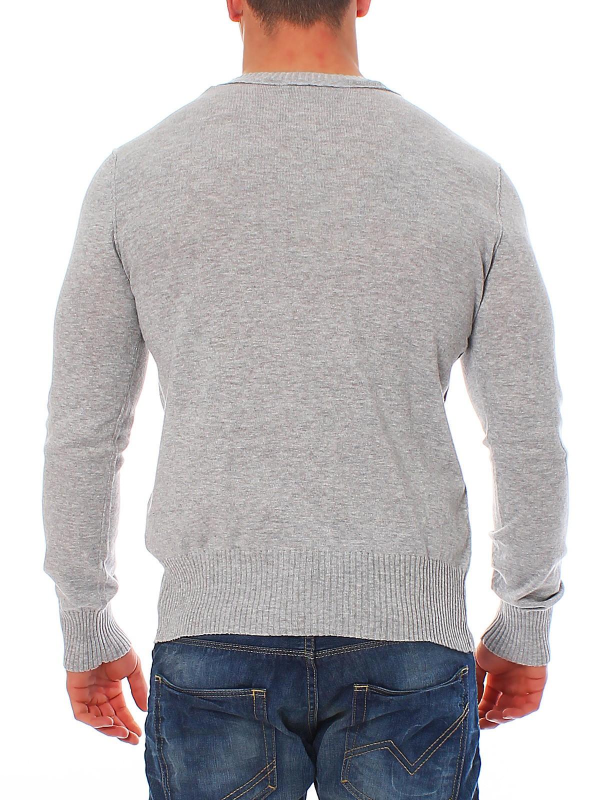 tom tailor herren pullover crew neck sweater 30111040912 grau ebay. Black Bedroom Furniture Sets. Home Design Ideas