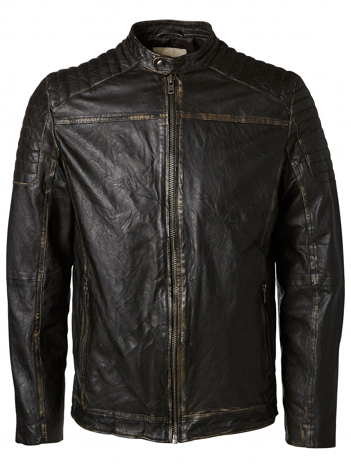 selected herren biker lederjacke shndestroy leather jacket 16048537 schwarz herren jacken. Black Bedroom Furniture Sets. Home Design Ideas