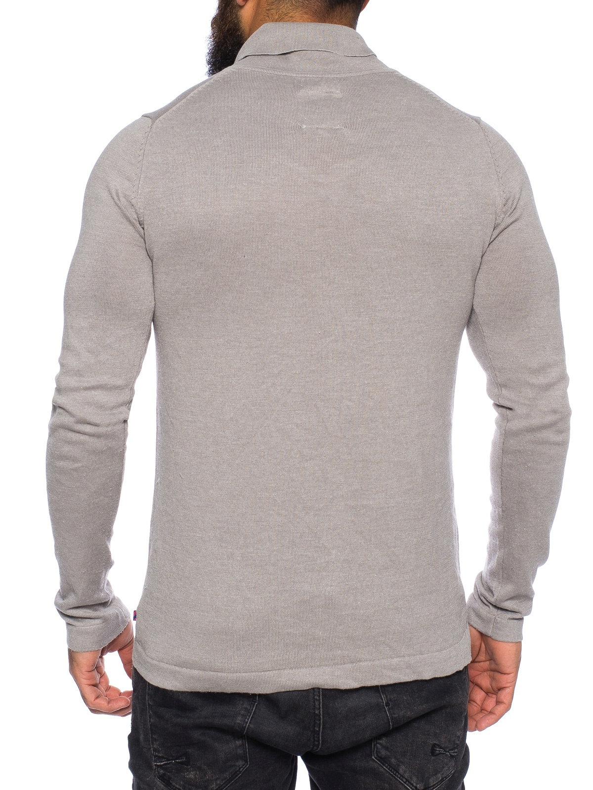tom tailor herren pullover s m l xl xxl pulli shirt strick grau schalkragen neu ebay. Black Bedroom Furniture Sets. Home Design Ideas
