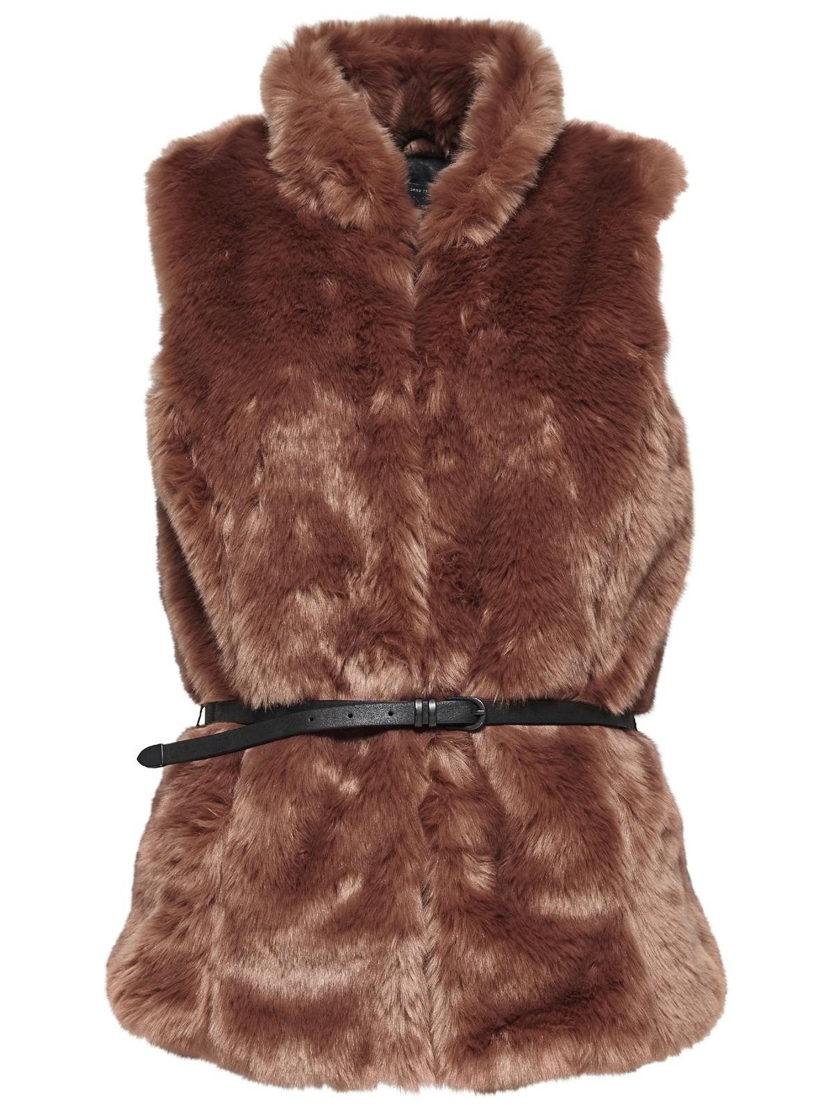 only fell weste onlaugusta fur waistcoat damen braun damen jacken. Black Bedroom Furniture Sets. Home Design Ideas