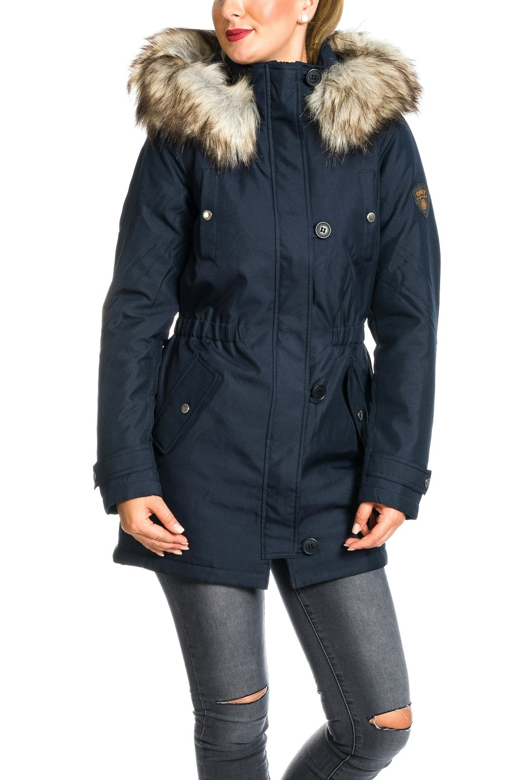 Winterjacke damen royal blau