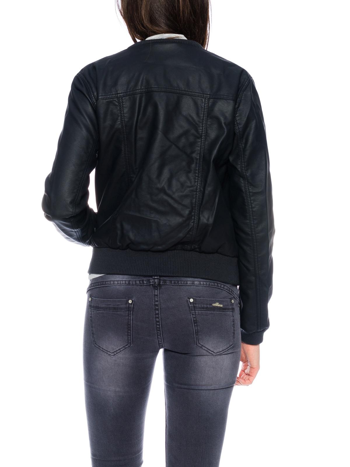 only damen jacke onladele biker leder optik schwarz damen jacken. Black Bedroom Furniture Sets. Home Design Ideas