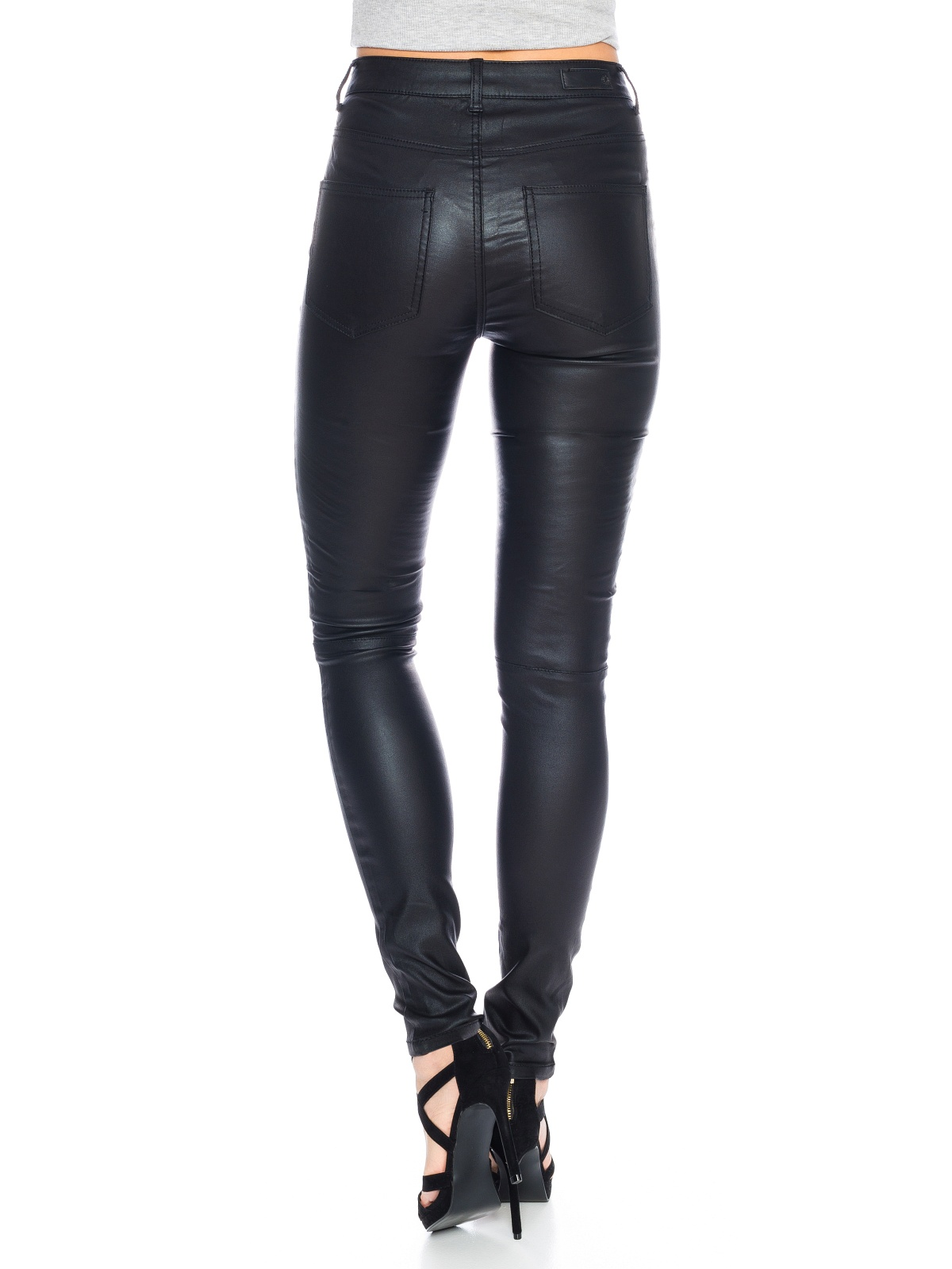 pieces damen biker hose legging pcjust 17071622 schwarz damen jeans. Black Bedroom Furniture Sets. Home Design Ideas