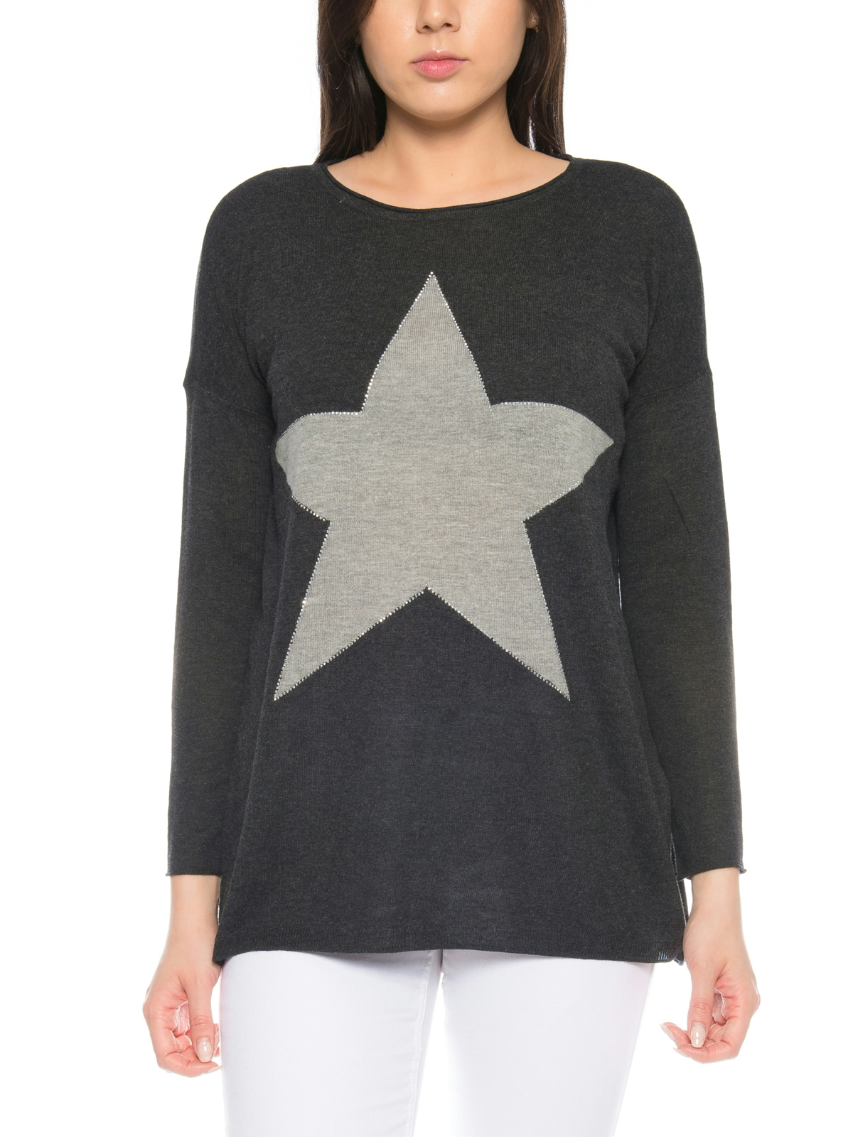 detailed look 9cc81 b538a Only Damen Pullover XS S M L XL Oversize Stern Motiv Shirt ...