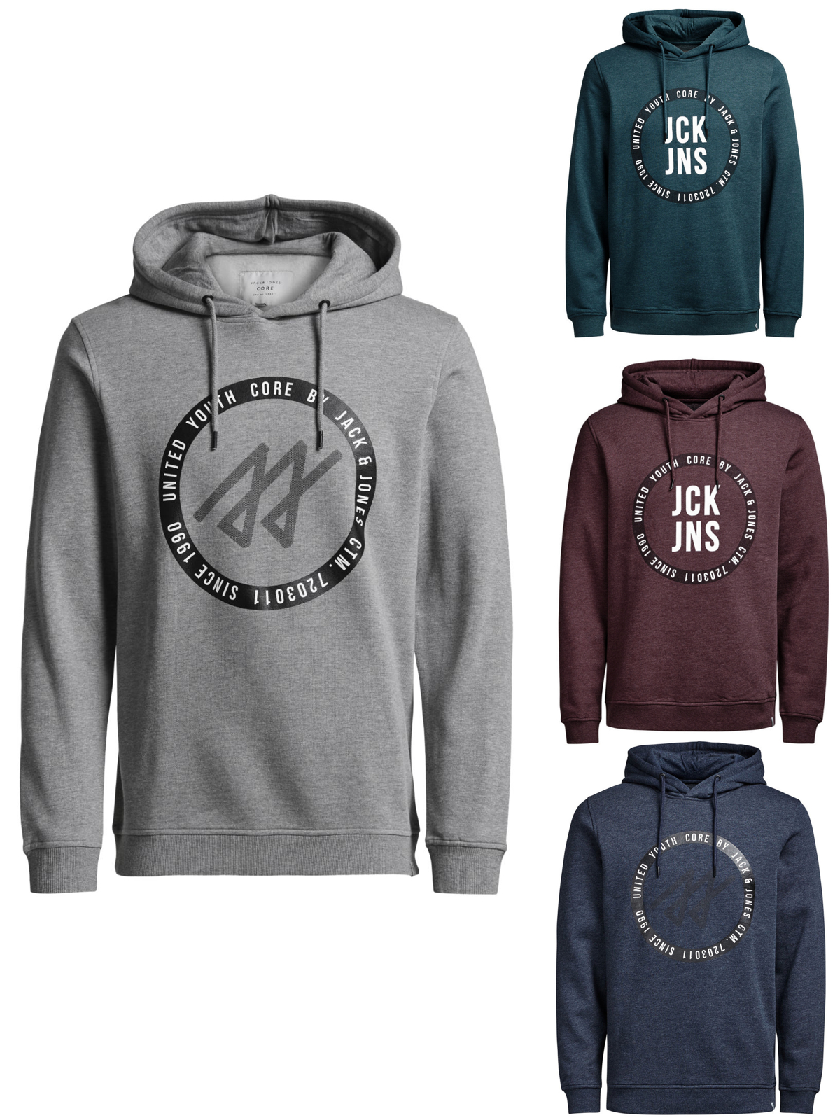 a30619c1d1333d Jack   Jones Pullover Jcoalbert Sweat Hood 12113590 print ...