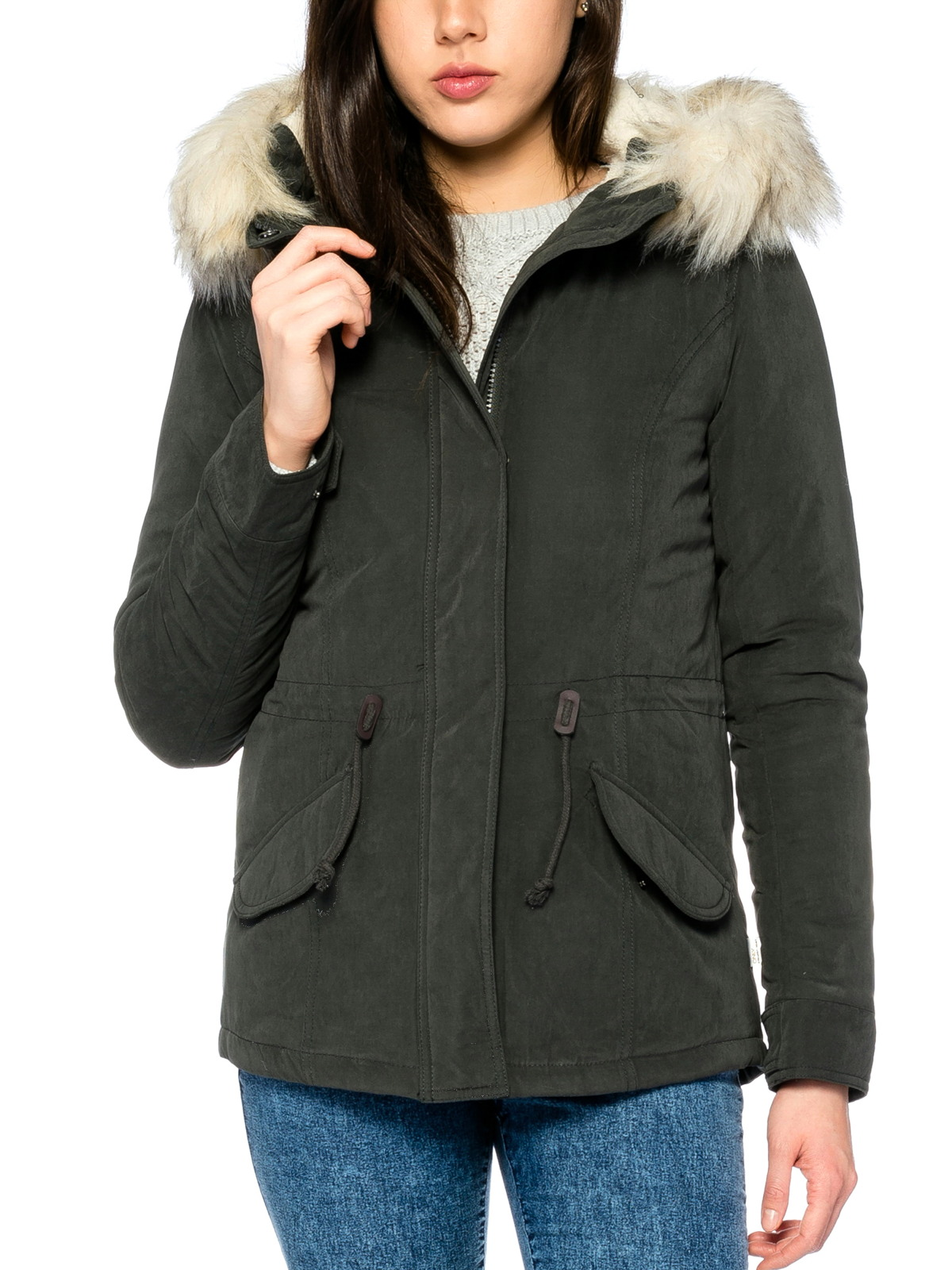 only jacke onllucca short parka jacket winterjacke damen jacken. Black Bedroom Furniture Sets. Home Design Ideas